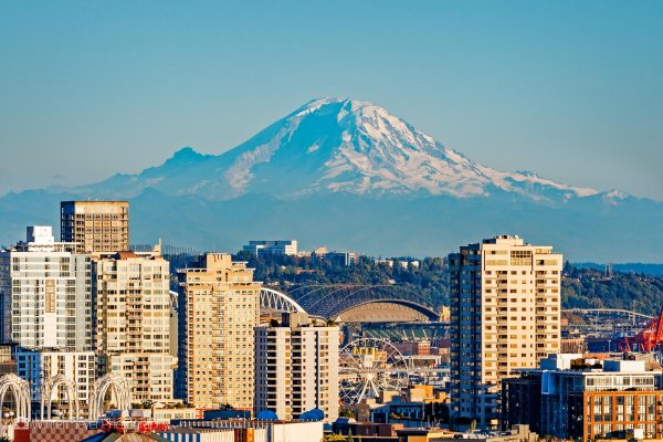 Mount Rainier Over Seattle