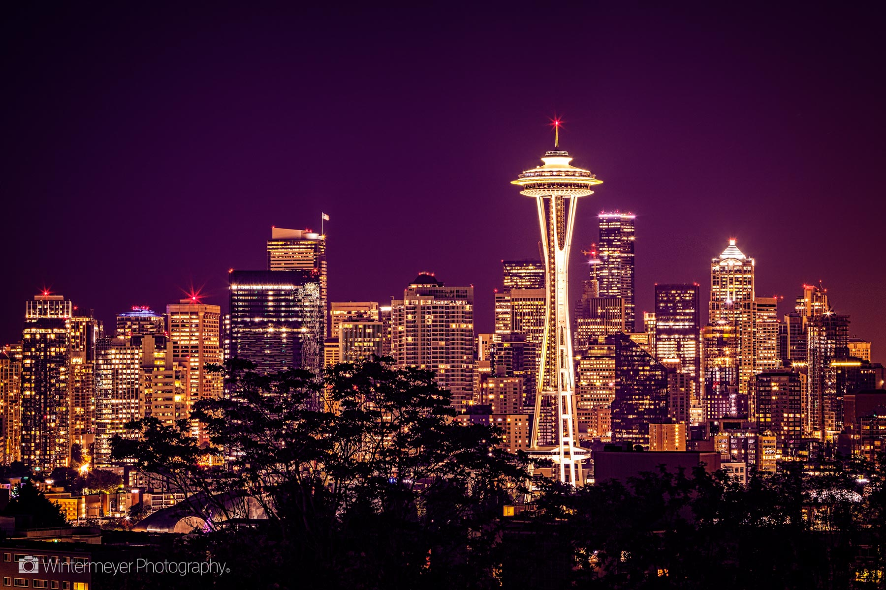 Night on Seattle